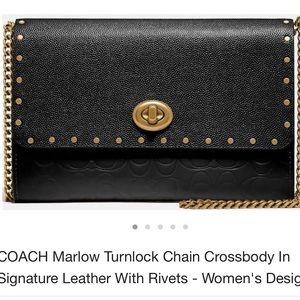 Coach marlow turnlock crossbody chain wallet NWT